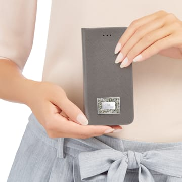 Versatile Smartphone Book Case with Bumper, iPhone® 7 Plus, Gray - Swarovski, 5285092