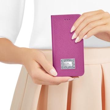 Étui pour smartphone à rabat latéral avec cadre amortisseur polyvalent, Samsung Galaxy S® 7, Rose - Swarovski, 5292421