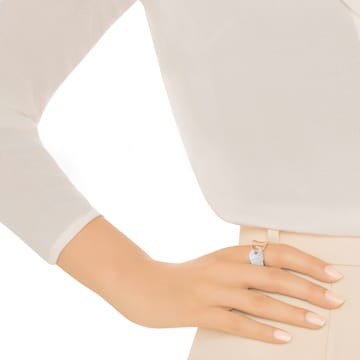 Guardian Ring, White, Rose-gold tone plated - Swarovski, 5295003