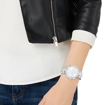 Ρολόι Era Journey, μεταλλικό μπρασελέ, λευκό, ανοξείδωτο ατσάλι - Swarovski, 5295363