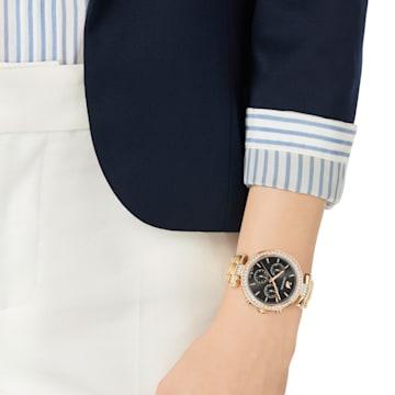 Era Journey Watch, Metal bracelet, Grey, Rose-gold tone PVD - Swarovski, 5295366