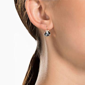 Boucles d'oreilles Bella V, Rond, Gris, Métal doré rose - Swarovski, 5299317