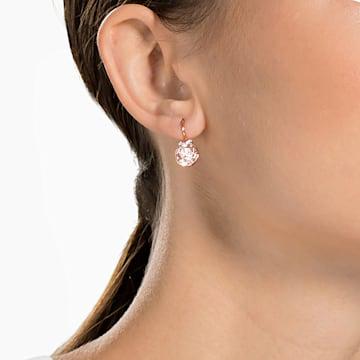Boucles d'oreilles Bella V, Rond, Rose, Métal doré rose - Swarovski, 5299318