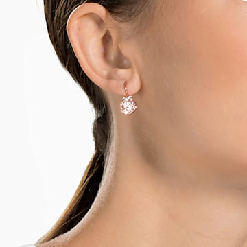Boucles d'oreilles Bella V, rose, Métal doré rose - Swarovski, 5299318