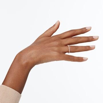 Vittore Marquise 戒指, 白色, 鍍玫瑰金色調 - Swarovski, 5351769