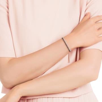 Subtle Armband, schwarz, Rosé vergoldet - Swarovski, 5352092