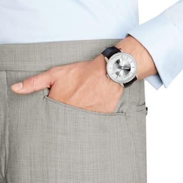 Męski zegarek automatyczny Atlantis z limitowanej edycji, pasek ze skóry, biały, stal nierdzewna - Swarovski, 5364206