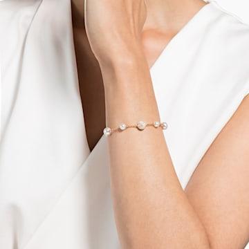 Swarovski Remix Collection Round Pearl Strand, 白色, 鍍玫瑰金色調 - Swarovski, 5365738