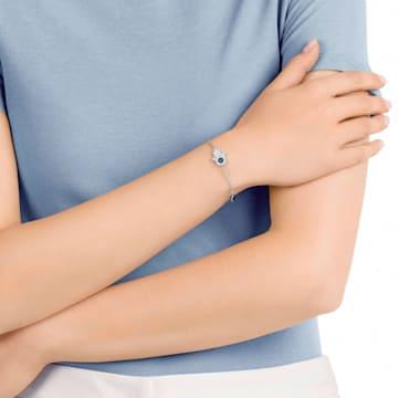 Swarovski Remix Collection Hamsa Hand Strand, 蓝色, 多种金属润饰 - Swarovski, 5373249