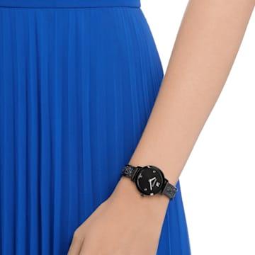 Montre Cosmic Rock, Bracelet en métal, noir, PVD noir - Swarovski, 5376071