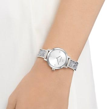 Cosmic Rock 腕表, 金属手链, 白色, 不锈钢 - Swarovski, 5376080