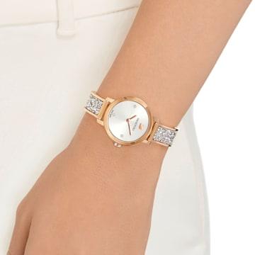 Cosmic Rock 腕表, 金属手链, 灰色, 玫瑰金色调 PVD - Swarovski, 5376092