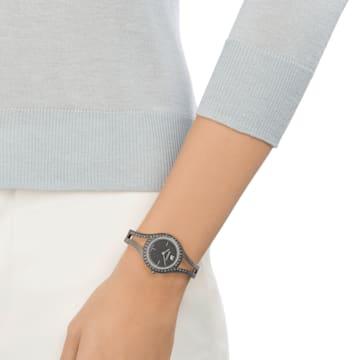 Eternal-horloge, Metalen armband, Zwart, Bronzen PVD - Swarovski, 5376659