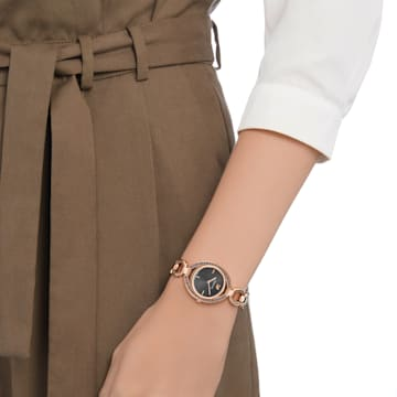 Stella-horloge, Metalen armband, Donkergrijs, Roségoudkleurig PVD - Swarovski, 5376806