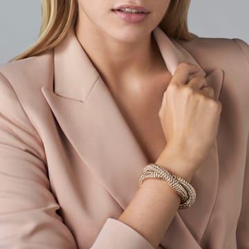Skinny Double Bolster Bracelet, Palladium plated - Swarovski, 5377155