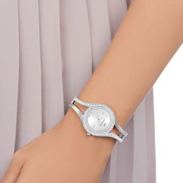 Hodinky Eternal, s kovovým páskem, bílé, nerezová ocel - Swarovski, 5377545