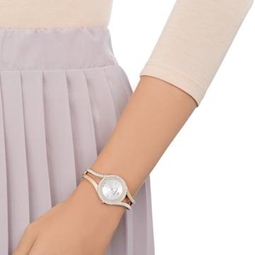 Eternal 腕表, 金属手链, 白色, 香槟金色调 PVD - Swarovski, 5377563