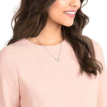 Lovely Halskette, weiss, Rhodiniert - Swarovski, 5380703