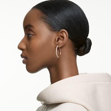 Stone 穿孔耳环, 粉红色, 镀玫瑰金色调 - Swarovski, 5383938