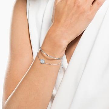 Ginger-armband, Wit, Rodium-verguld - Swarovski, 5389044