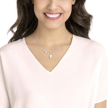 Lucy Kite 束颈项链, 白色, 镀白金色 - Swarovski, 5392491