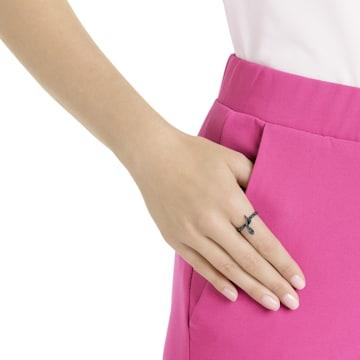 Leslie Ring, Black, Rose-gold tone plated - Swarovski, 5402439