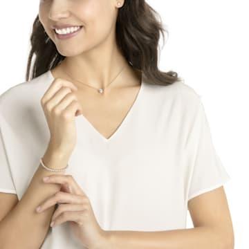 Parure Attract Emily, blanc, Métal doré rose - Swarovski, 5408438