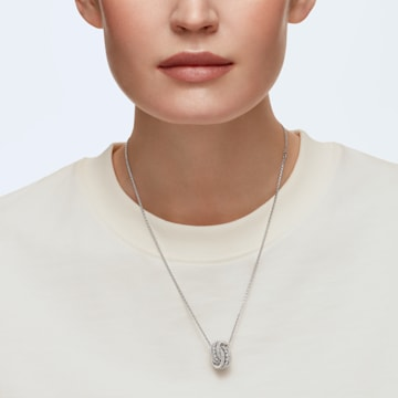 Further Pendant, White, Rhodium plated - Swarovski, 5409696