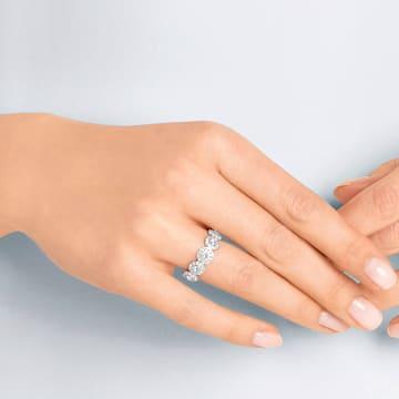 Pierścionek Angelic, biały, powlekany rodem - Swarovski, 5410290