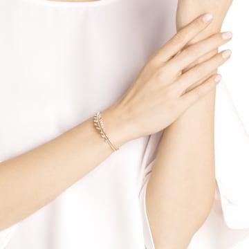 Bracelet-jonc Mayfly, blanc, Métal doré rose - Swarovski, 5410411