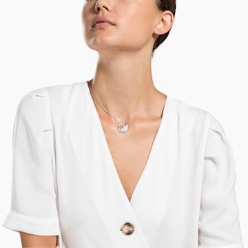 Swarovski Iconic Swan 链坠, 白色, 镀铑 - Swarovski, 5411791