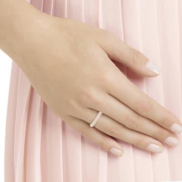 Prsten Stone, růžový, pozlacený růžovým zlatem - Swarovski, 5412022