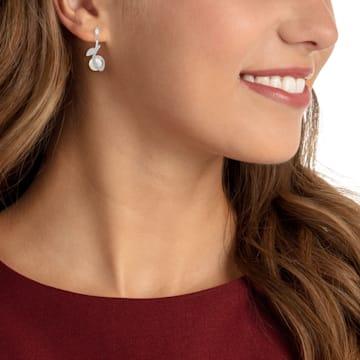 Leonore 穿孔耳环, 彩色设计, 镀铑 - Swarovski, 5412639