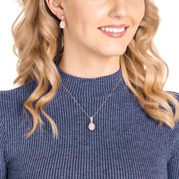 Vintage 套裝, 粉紅色, 鍍玫瑰金色調 - Swarovski, 5414695