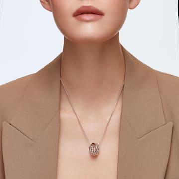 Pendente Further, Bianco, Placcato color oro rosa - Swarovski, 5419853