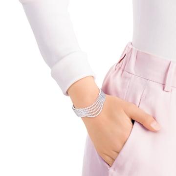 Bracelet-jonc Fit, blanc, acier inoxydable - Swarovski, 5424589
