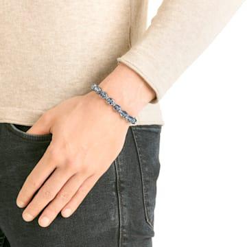 Taddeo 手链, 蓝色, 镀钌 - Swarovski, 5429880
