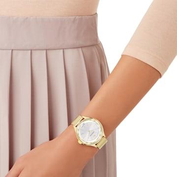 Octea Nova Uhr, Milanaise-Armband, Goldfarben, Goldlegierungsschicht PVD-Finish - Swarovski, 5430417