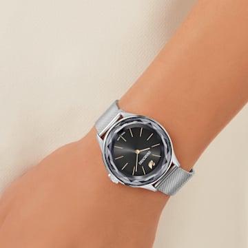 Zegarek Octea Nova, bransoleta Milanese, czarny, stal nierdzewna - Swarovski, 5430420