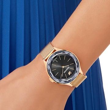 Octea Nova 腕表, Milanese 手链, 黑色, 玫瑰金色调 PVD - Swarovski, 5430424