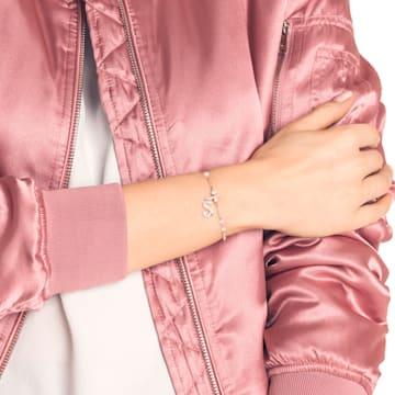 Swarovski Remix Collection Charm S, Белый Кристалл, Покрытие оттенка розового золота - Swarovski, 5434399