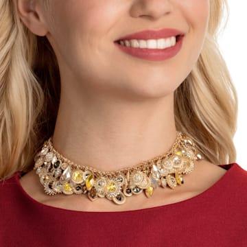 Nemesia Necklace, Multi-colored, Gold-tone plated - Swarovski, 5435560