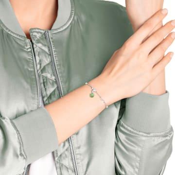 Swarovski Remix Collection Charm, 八月, 淺綠色, 鍍白金色 - Swarovski, 5437317