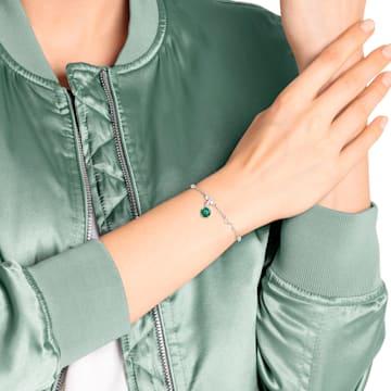 Swarovski Remix Collection Charm, maggio, verde, Placcatura rodio - Swarovski, 5437321