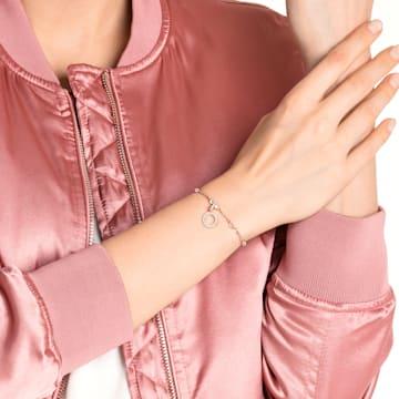 Swarovski Remix Collection Charm O, Белый Кристалл, Покрытие оттенка розового золота - Swarovski, 5437607
