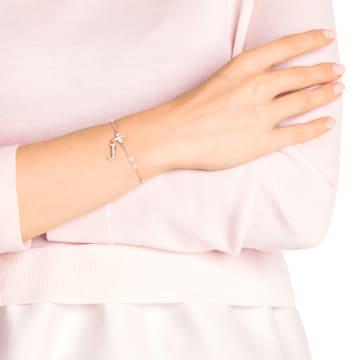 Swarovski Remix Collection Charm J, 白色, 镀玫瑰金色调 - Swarovski, 5437609