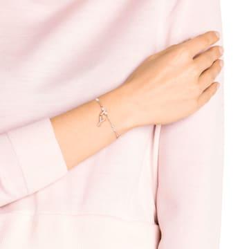 Swarovski Remix Collection Charm Y, Белый Кристалл, Покрытие оттенка розового золота - Swarovski, 5437612