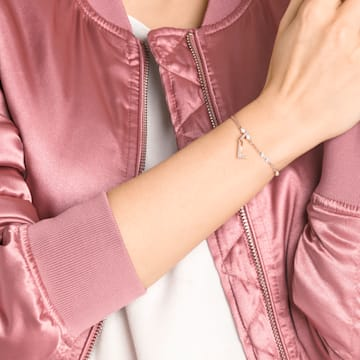 Swarovski Remix Collection Charm L, Белый Кристалл, Покрытие оттенка розового золота - Swarovski, 5437618