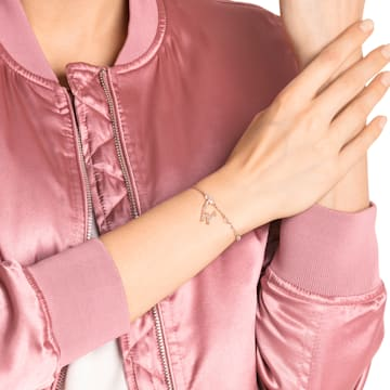 Swarovski Remix Collection Charm W, blanco, Baño en tono Oro Rosa - Swarovski, 5440422