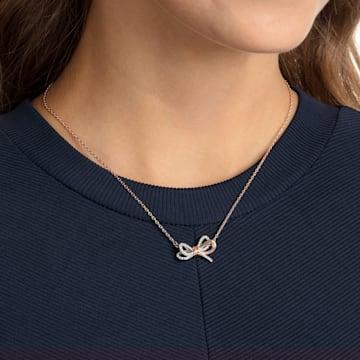 Pendente Lifelong Bow, branco, acabamento em vários metais - Swarovski, 5440636